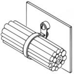 Стяжки усиленные для внутреннего применения с держателем для крепления жгута к стене (TYO)