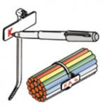 Стяжки усиленные для внутреннего применения, с табличкой  (TYOT,TYTO)
