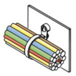 Стяжки для внутреннего применения, с держателем (TKO)