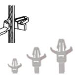 Cтяжки c защелкивающим держателем (TKZD)