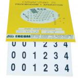 Знаки клеящиеся, ПВХ, для обозначения клемм, зажимов (ZS 14x20)