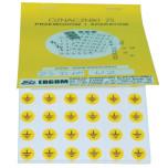 Знаки клеящиеся, ПВХ, для обозначения аппаратов, зажимов (ZS D10)