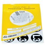 Знаки клеящиеся, ПВХ, для обозначения аппаратов, зажимов (ZS D32)