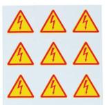 Знаки клеящиеся, ПВХ, для обозначения аппаратов, зажимов (ZS.../L)