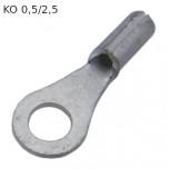 KO 0,5/2,5 - Наконечник кольцевой под винт М2,5, без изоляции, лужёный, медный. упак {25шт}