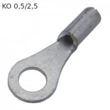KO 0,5/2,5 - Наконечник кольцевой под винт М2,5, без изоляции, лужёный, медный. упак {100шт}
