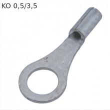 KO 0,5/3,5 - Наконечник кольцевой под винт М3,5, без изоляции, лужёный, медный. упак {100шт}