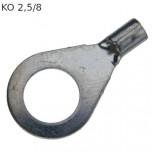 KO 2,5/8 - Наконечник кольцевой под винт М8, без изоляции, лужёный, медный, упак {25шт}