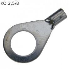 KO 2,5/8 - Наконечник кольцевой под винт М8, без изоляции, лужёный, медный, упак {100шт}