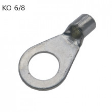 KO 6/8 - Наконечник кольцевой под винт М8, без изоляции, лужёный, медный, упак {100шт}