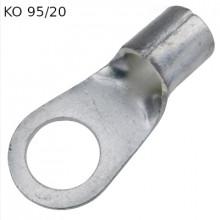 KO 95/20 - Наконечник кольцевой под винт М20, без изоляции, лужёный, медный, упак {100шт}