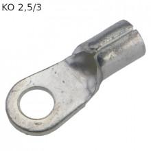 KO 2,5/3 - Наконечник кольцевой под винт М3, без изоляции, лужёный, медный, упак {100шт}