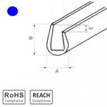 OKU 2/1 BL - П-образный профиль для защиты кромок, ПВХ, синий, рул {50м}