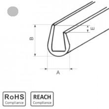 OKU 6/3 GY - П-образный профиль для защиты кромок, ПВХ, серый, рул {25м}