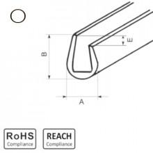 OKU 5/2,5 WT - П-образный профиль для защиты кромок, ПВХ, белый, рул {25м}
