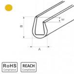 OKU 4/2 YL - П-образный профиль для защиты кромок, ПВХ, желтый, рул {25м}