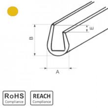 OKU 5/2,5 YL - П-образный профиль для защиты кромок, ПВХ, желтый, рул {25м}