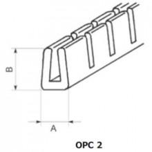 OPC-2 - П-образный профиль для защиты кромок, ПВХ, черная, с надрезами, рул {50м}