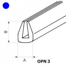 OPN-3 BL - Защита кромки (окантовка) ПВХ [синий] рул {50м}