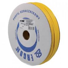 DPF 2.5/125 YL [E] - Профиль овальный, ПВХ, для принтера LETATWIN боб {1м}