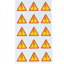 ZS 100LIGHTNING - Знаки клеящиеся, ПВХ, для обозначения аппаратов, зажимов упак {10шт}