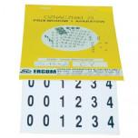 ZS 14*20/UZK - Знаки клеящиеся, ПВХ, для обозначения аппаратов, зажимов упак {300шт}