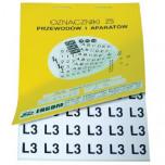 ZS 15x15/L13 - Знаки клеящиеся, ПВХ, для обозначения аппаратов, зажимов упак {480шт}