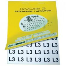 ZS 15x15/BN - Знаки клеящиеся, ПВХ, для обозначения аппаратов, зажимов упак {480шт}