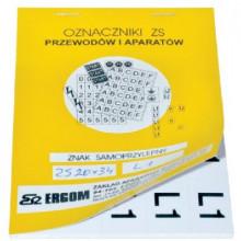 ZS 20x34/PEN - Знаки клеящиеся, ПВХ, для обозначения аппаратов, зажимов упак {200шт}