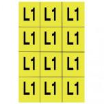 ZS 50x60/L2 - Знаки клеящиеся, ПВХ, для обозначения аппаратов, зажимов упак {1000шт}