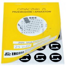 ZS D20/PU - Знаки клеящиеся, ПВХ, для обозначения аппаратов, зажимов упак {200шт}