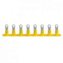 KOTI 1/10 - Наконечник кабельный медный, лужёный, кольцевой, с изоляцией, в ленте упак {2000шт}