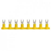 KWTI 1/3 - Наконечник кабельный медный, лужёный, изолированный, вилочный, в ленте упак {2000шт}