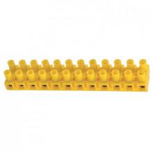 TLZ 10N - Клемма винтовая 12-ти контактная, с предохраняющей прокладкой, 10мм2 [жёлтый] упак {50шт}