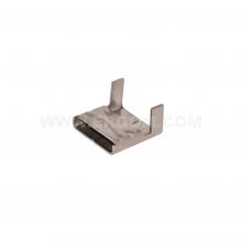 C304/12 - Застёжка стальная для бандажей (стяжек) в катушках упак {100шт}